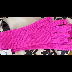 NWT J.Crew Super-Soft Ribbed Pink  Texting Gloves